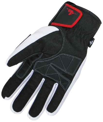 【4R】Rassle F-13A硬式防護冬季手套/白色 - 「Webike-摩托百貨」