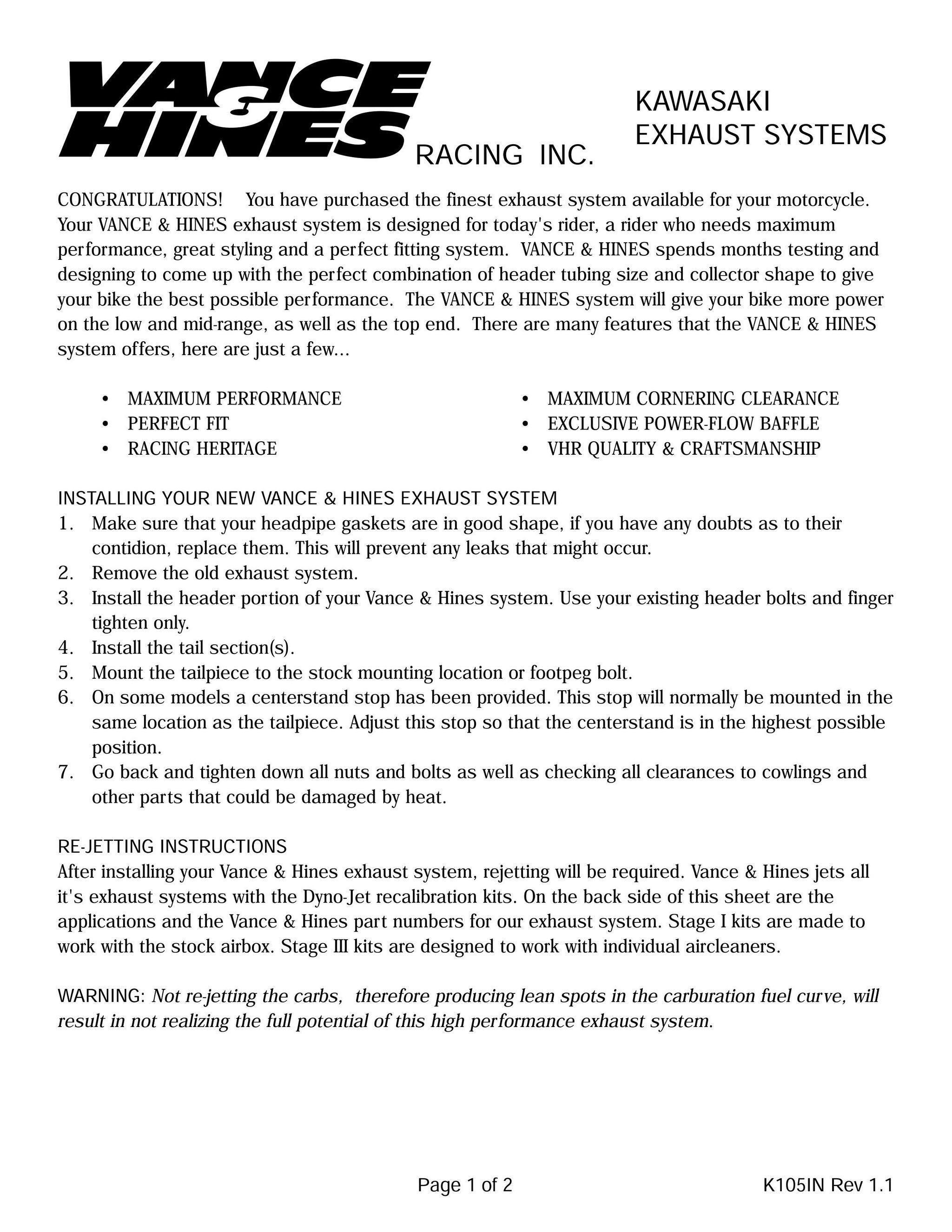 【VANCE&HINES】Megaphone  鍍鉻排氣管 - 「Webike-摩托百貨」