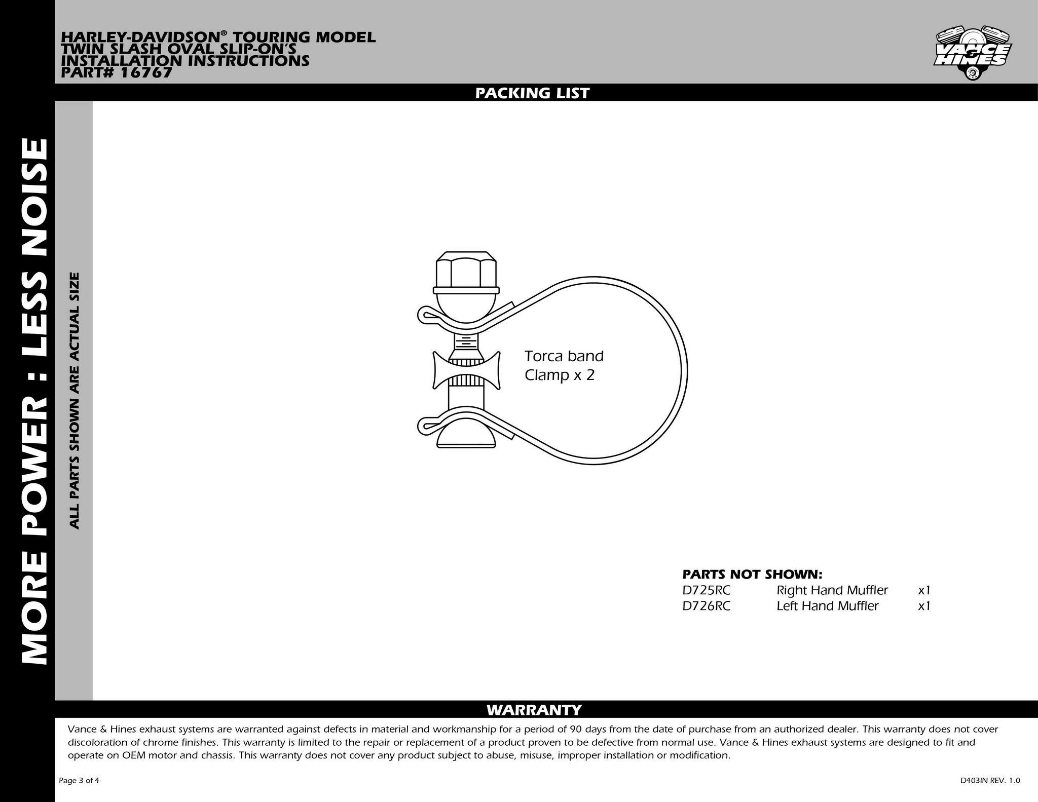 【VANCE&HINES】TWIN SLASH Oval排氣管尾段 - 「Webike-摩托百貨」