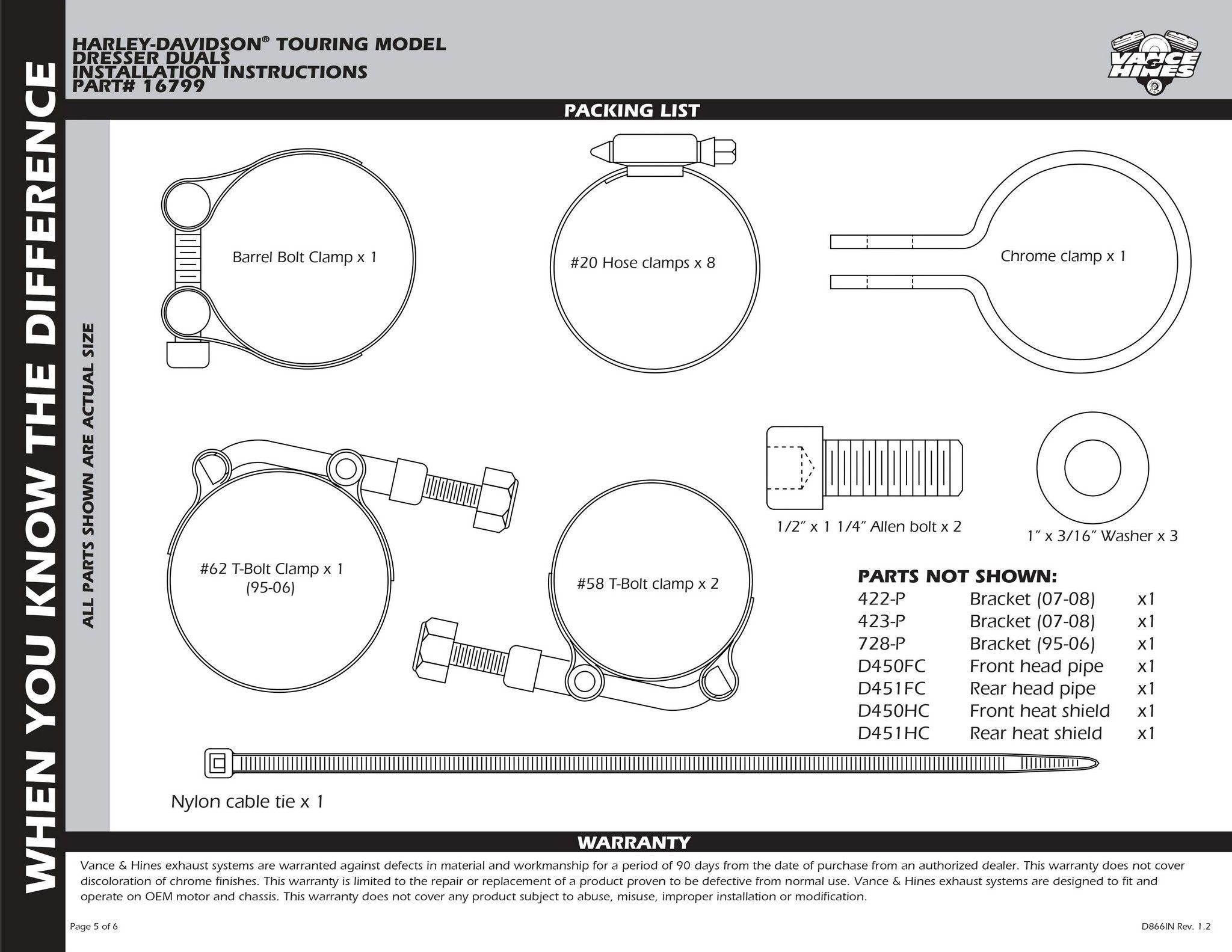 【VANCE&HINES】 DRESSER DUALS HEAD PIPES 排氣管頭段 - 「Webike-摩托百貨」