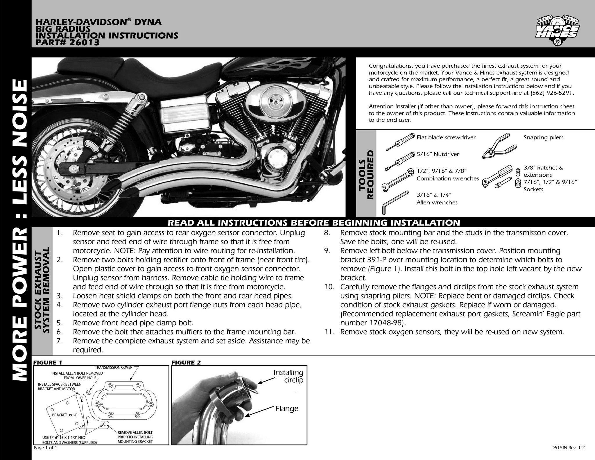 【VANCE&HINES】BIG RADIUS  全段排氣管 - 「Webike-摩托百貨」