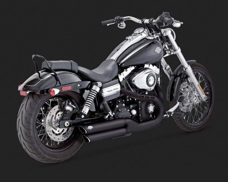 【VANCE&HINES】TWIN SLASH 排氣管尾段(黑色) - 「Webike-摩托百貨」