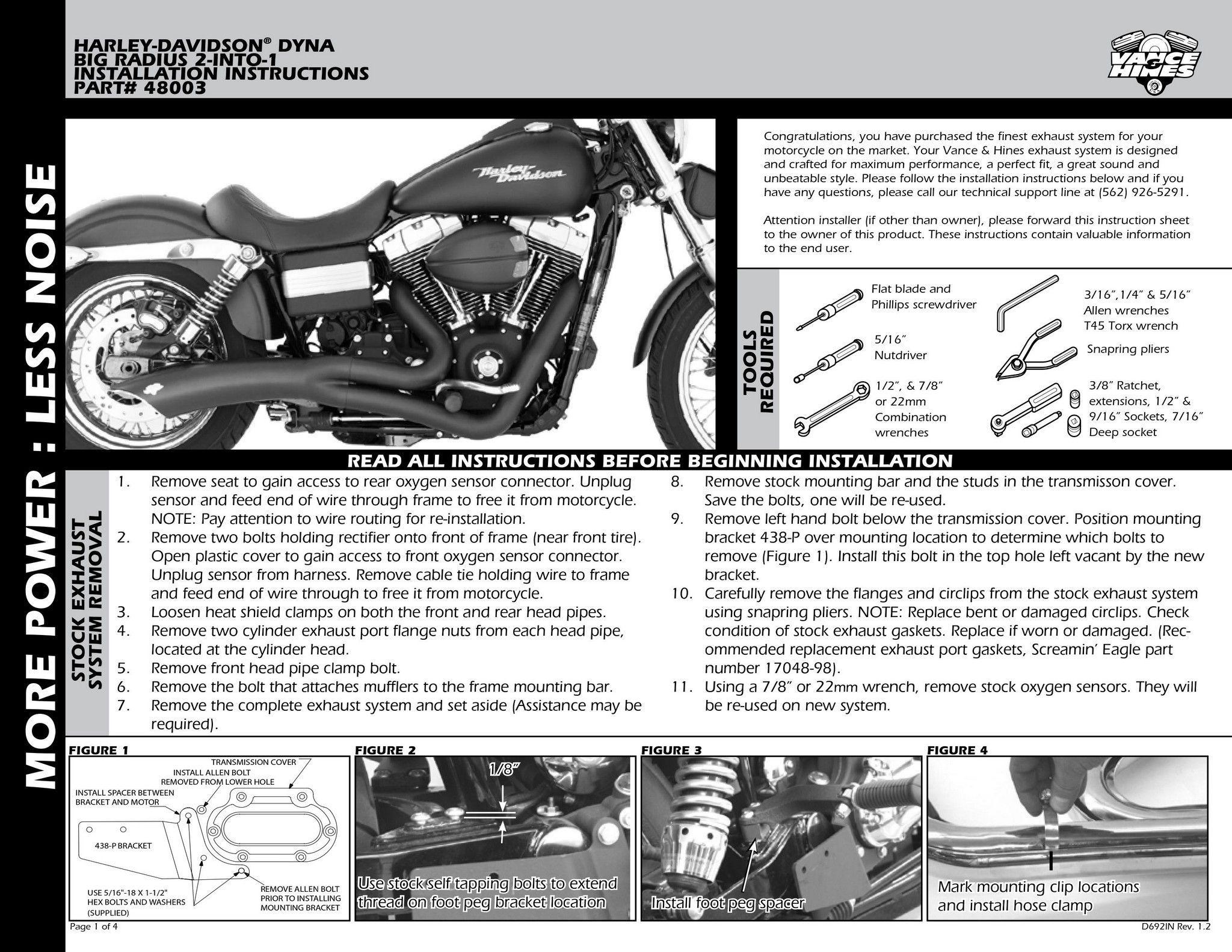 【VANCE&HINES】 BIG RADIUS BLACK 全段排氣管 - 「Webike-摩托百貨」