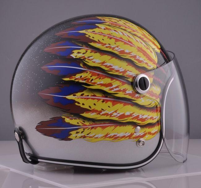 【72JAM】#51 羽毛設計 四分之三安全帽 - 「Webike-摩托百貨」