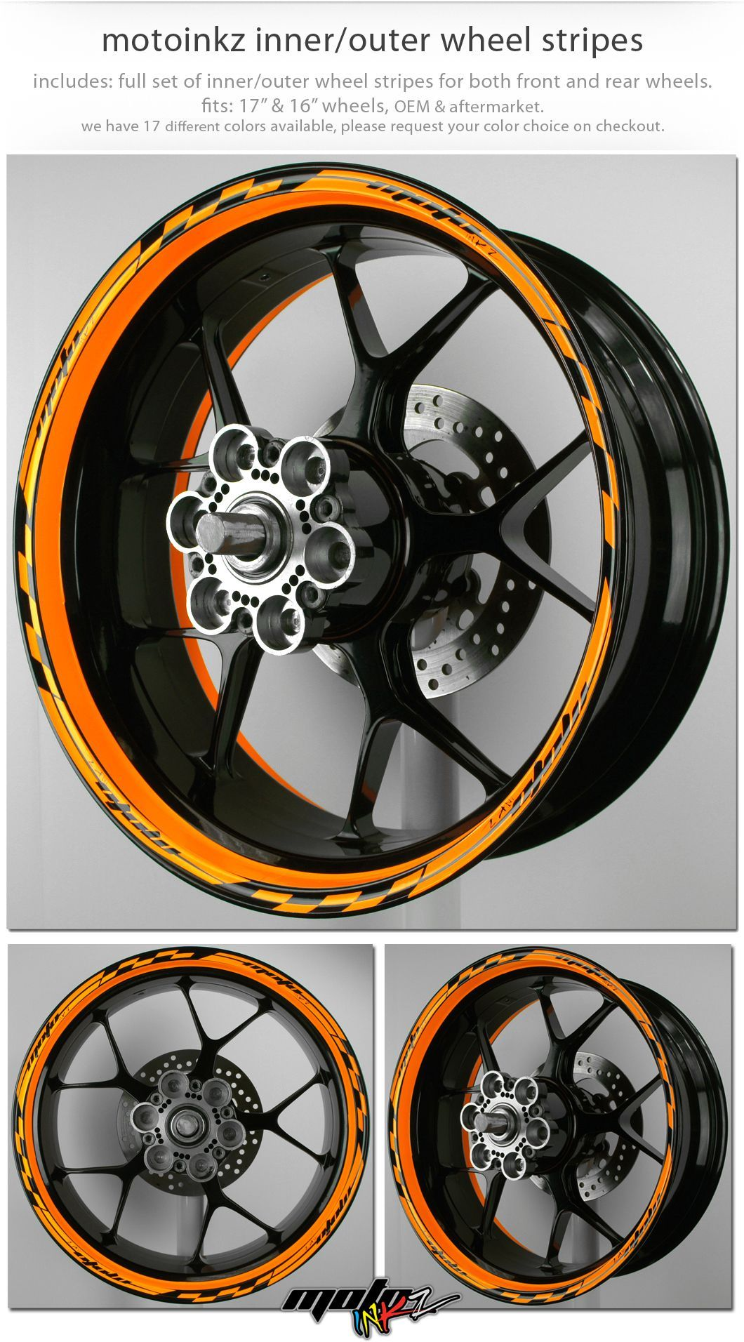 MOTOINKZ モトインクズ:ホイール・リムステッカー5 インナーアウターリップデザイン(Wheel Stripes Inner/Outer lip design 5)