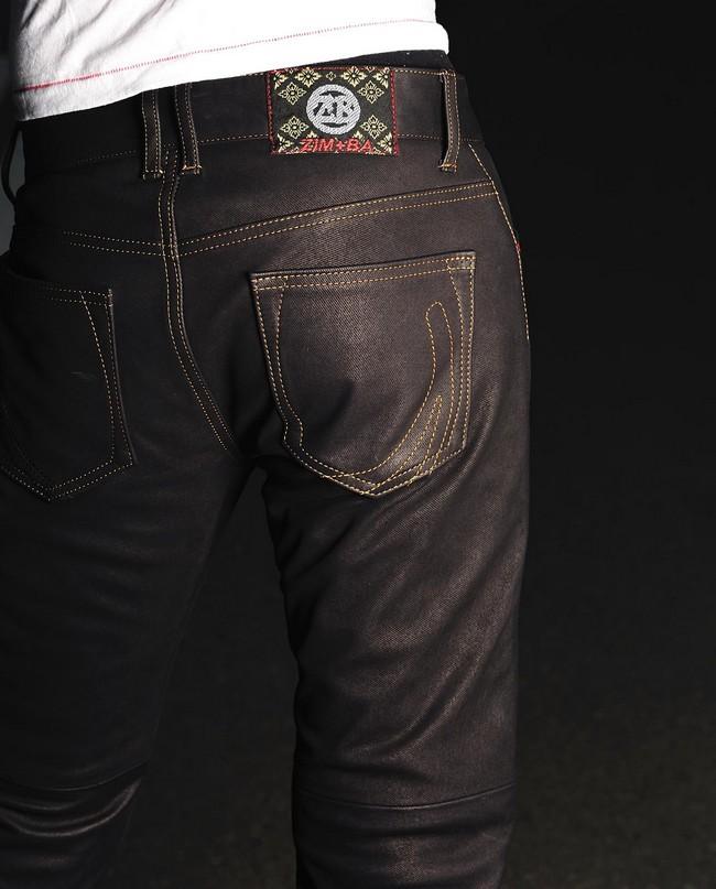 【ZIMBA】直筒皮革丹寧牛仔褲 4012 - 「Webike-摩托百貨」