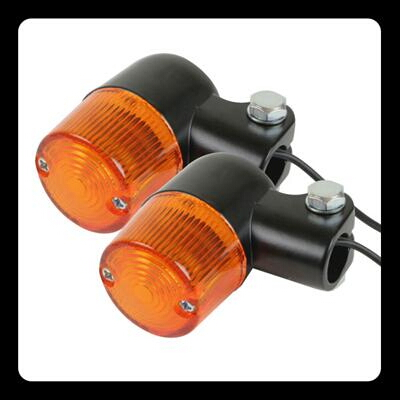 【GOODS】Compact 方向燈 (圓型 黑色 琥珀色) - 「Webike-摩托百貨」