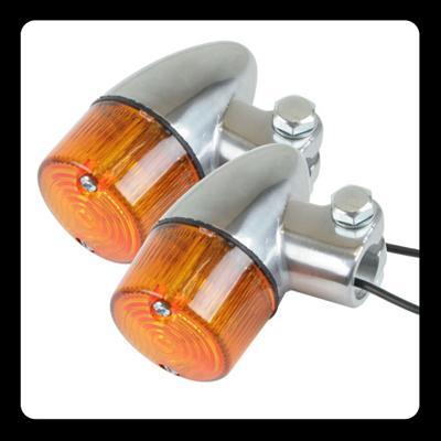 【GOODS】Compact 方向燈 (砲彈型 鍍鉻 琥珀色) - 「Webike-摩托百貨」