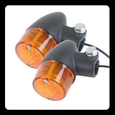【GOODS】Compact 方向燈 (砲彈型 黑色 琥珀色) - 「Webike-摩托百貨」