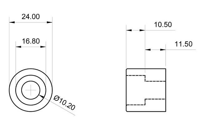 【GOODS】焊接型襯套 M10 平頭螺絲用 10個一組 - 「Webike-摩托百貨」