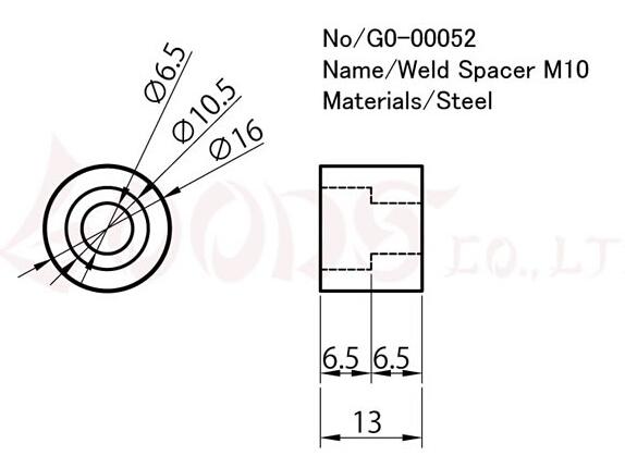 【GOODS】焊接型襯套 M6 平頭螺絲用 - 「Webike-摩托百貨」