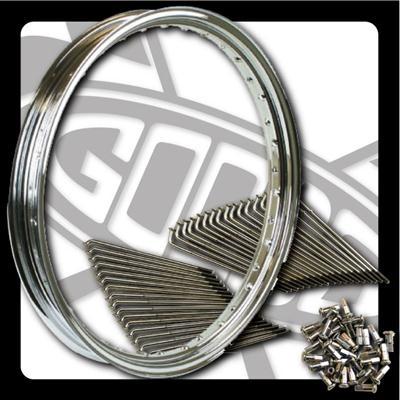 【GOODS】21吋 前輪不銹鋼鋼絲套件 - 「Webike-摩托百貨」