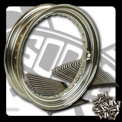 【GOODS】16吋 MT 鍍鉻鋼絲套件 - 「Webike-摩托百貨」