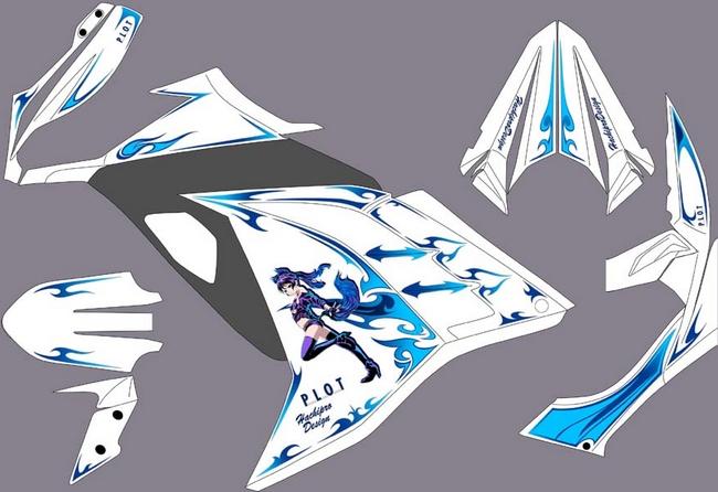 【PLOT】車身貼紙套件 - 「Webike-摩托百貨」