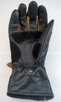 【Vin&Age】氯丁橡膠×牛革 條紋手套 - 「Webike-摩托百貨」