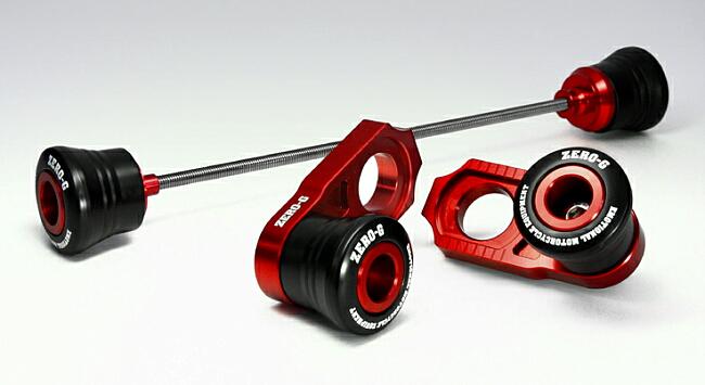 【ZERO-G】前+後輪軸保護滑塊(防倒球)組 - 「Webike-摩托百貨」