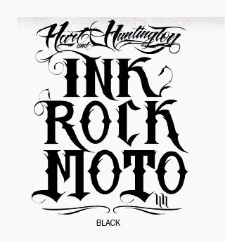 【Hart&Huntington】INK ROCK MOTO 4.5吋印刷貼紙 - 「Webike-摩托百貨」