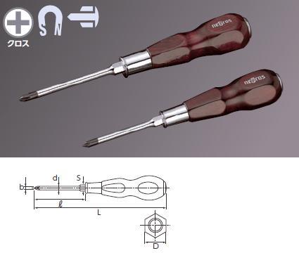 Wooden Handle Screwdriver Penetrating Type (Phillips)