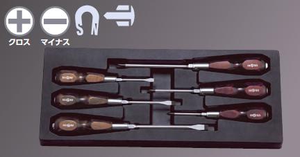 Wooden Handle Screwdriver Set [1 Set of 6pcs.]