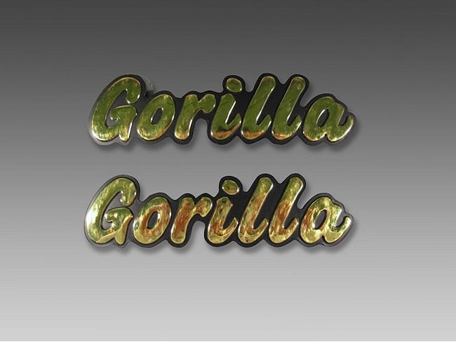 【MINIMOTO】GORILLA油箱用立體字左右一組 - 「Webike-摩托百貨」