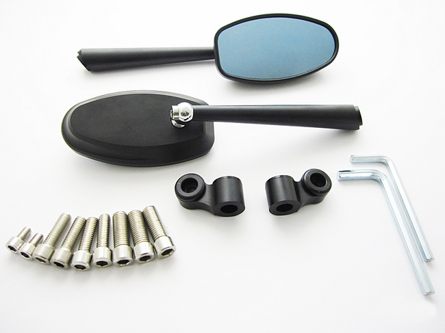 【MADMAX】鋁合金後視鏡 Oval Type   (黑色) - 「Webike-摩托百貨」