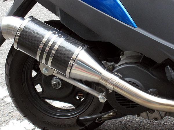 【Racing Shop Yokota】RSY Spider 黑色碳纖維全段排氣管:CREA SCOOPY (AF55)用 - 「Webike-摩托百貨」
