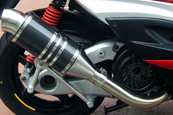 【Racing Shop Yokota】RSY Spider 碳纖維全段排氣管:Jog ZR (SA39J)用 - 「Webike-摩托百貨」
