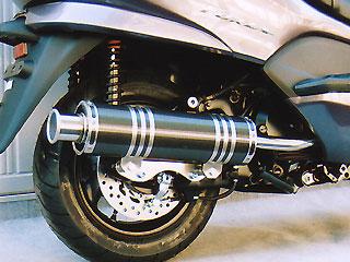 【Racing Shop Yokota】RSY Big Horn 黑色碳纖維全段排氣管:Cygnus X(SE12J)用 - 「Webike-摩托百貨」