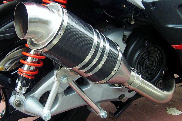 【Racing Shop Yokota】RSY Spider 黑色碳纖維全段排氣管:Cygnus X (SE44J)用 - 「Webike-摩托百貨」