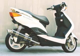 【Racing Shop Yokota】RSY Little Bomb 黑色碳纖維全段排氣管:Cygnus X (SE44J)用 - 「Webike-摩托百貨」