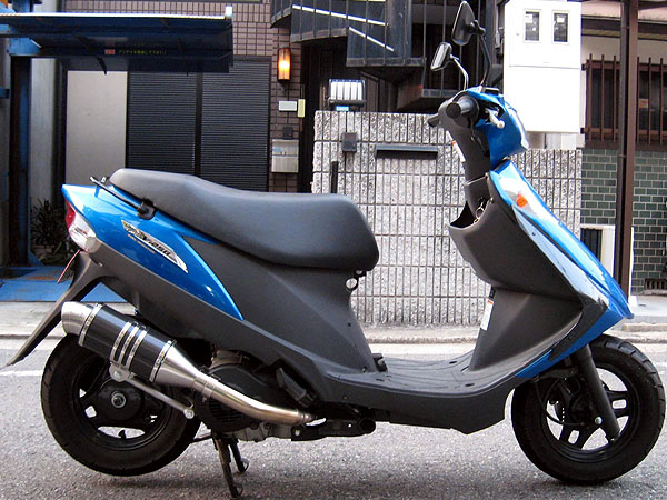 【Racing Shop Yokota】RSY Spider 黑色碳纖維全段排氣管:Address V125 (CF46A)用 - 「Webike-摩托百貨」