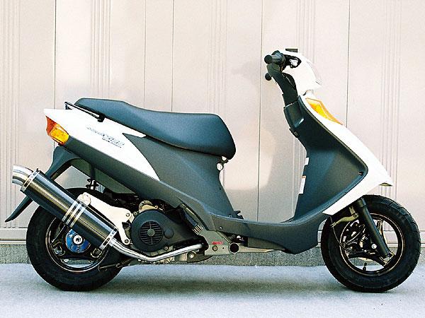 【Racing Shop Yokota】RSY Little Bomb 黑色碳纖維全段排氣管:Address V125 (CF46A)用 - 「Webike-摩托百貨」