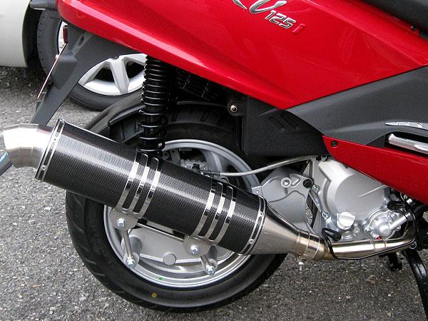 【Racing Shop Yokota】RSY Excellent 黑色碳纖維全段排氣管:SYM RV125 JP用 - 「Webike-摩托百貨」
