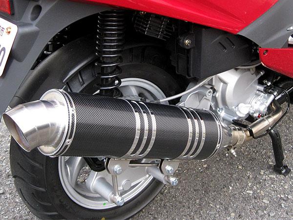 【Racing Shop Yokota】RSY Excellent 黑色碳纖維全段排氣管:SYM RV125 EFI 用 - 「Webike-摩托百貨」