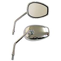 【MIRAX】橢圓形電鍍後視鏡右 - 「Webike-摩托百貨」