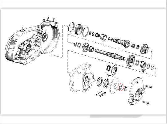 【GUTS CHROME】DSI製 主軸螺帽 止滑墊片 (K/XL Model) - 「Webike-摩托百貨」