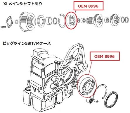 【GUTS CHROME】5速變速箱用 主軸滾珠軸承 - 「Webike-摩托百貨」