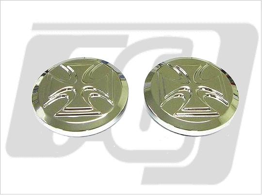 【GUTS CHROME】Cross 螺牙式油箱蓋 (左右組) - 「Webike-摩托百貨」
