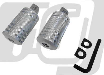 【GUTS CHROME】短鋁合金腳踏桿組 (Type 2 厚) - 「Webike-摩托百貨」