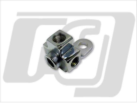 【GUTS CHROME】原廠型煞車油管三通 3/8-24×3   1/8吋 NPT×1 83566-51 - 「Webike-摩托百貨」