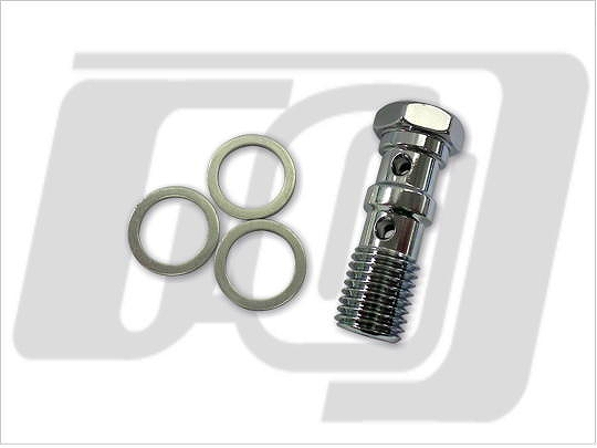 【GUTS CHROME】雙油管接頭螺絲 (電鍍) 12mm-1.5 - 「Webike-摩托百貨」