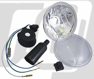 【GUTS CHROME】5.75晶鑽型頭燈改裝套件 - 「Webike-摩托百貨」