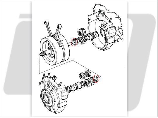 【GUTS CHROME】Flywheel 飛輪止推墊片組 .060-.102 - 「Webike-摩托百貨」