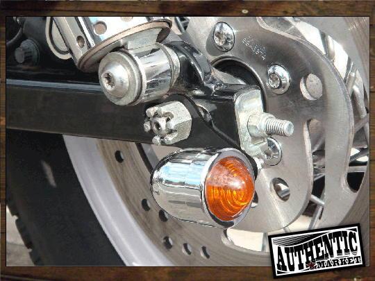 【GUTS CHROME】方向燈輪軸安裝支架 (黑色) - 「Webike-摩托百貨」