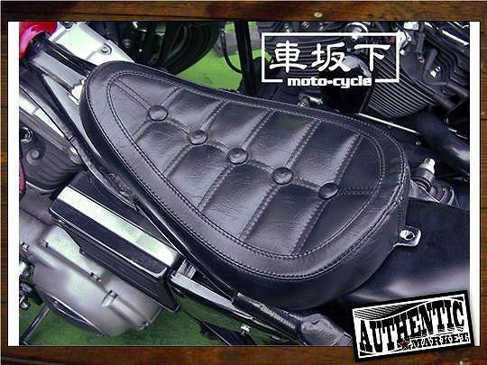 【GUTS CHROME】車坂下moto-cycle製 單坐墊 (Button Stitch) - 「Webike-摩托百貨」