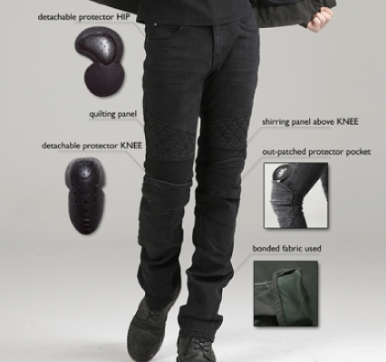 【uglyBROS】MOTO PANTS TON-UP 牛仔車褲 - 「Webike-摩托百貨」