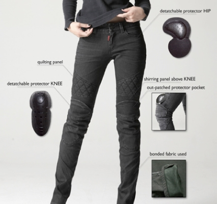 【uglyBROS】MOTO PANTS TON-UP girl 女用牛仔車褲 - 「Webike-摩托百貨」