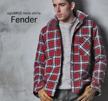 【uglyBROS】MOTOSHIRTS  FENDER 秋冬襯衫 - 「Webike-摩托百貨」