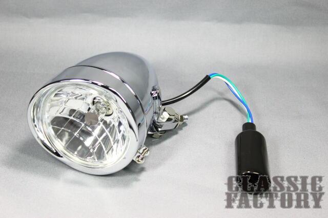 【CLASSIC FACTORY 】4.5吋 Brett Bates 頭燈 (電鍍/晶鑽) - 「Webike-摩托百貨」