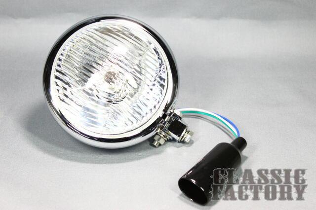 【CLASSIC FACTORY 】5.5吋  Bates 頭燈 (玻璃/電鍍) - 「Webike-摩托百貨」